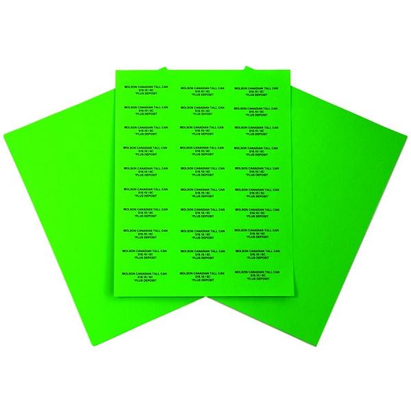 Easy Peel Labels-G-2 5/8 x 1-5160-Organic Green 100 Sheets=3000 Labels
