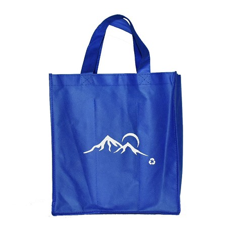 REUSABLE 6 BOTTLE CLOTH BAGS WITH COLLAPSIBLE DIVIDERS-BLUE MOUNTAIN 100/CASE
