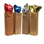 BG-53-1-Boutique Soft Gold w/ Foil Stamp Bottle Gift Bags