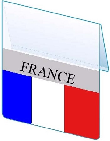 RE-USABLE PROMO FLAG FRANCE
