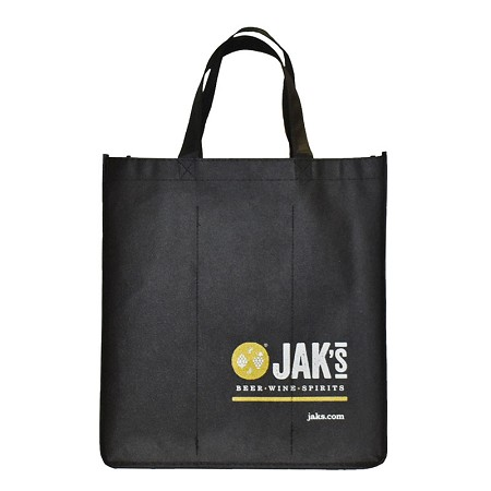 REUSABLE CUSTOM 6 BOTTLE CLOTH BAGS WITH COLLAPSIBLE DIVIDERS