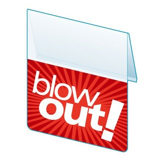 BLOW OUT RE-USABLE PROMO TAG-SHELF TALKER