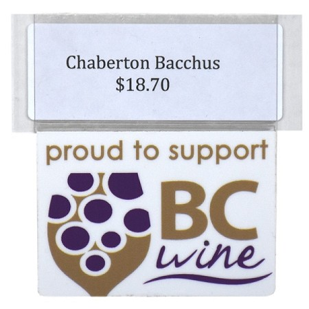 PROUD TO SUPPORT BC WINE REUSABLE PROMO TAG