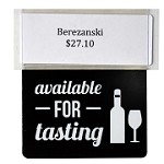 Available for Tasting Re-Usable Promo Tag