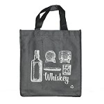 REUSABLE 6 BOTTLE CLOTH BAGS WITH COLLAPSIBLE DIVIDERS-GREY WHISKEY 100/CASE