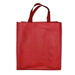 REUSABLE 6 BOTTLE CLOTH BAGS WITH COLLAPSIBLE DIVIDERS-RED  100/CASE