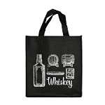 REUSABLE 6 BOTTLE CLOTH BAGS WITH COLLAPSIBLE DIVIDERS-BLACK WHISKEY 100/CASE