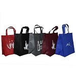 REUSABLE 6 BOTTLE CLOTH BAGS WITH LARGE COLLAPSIBLE DIVIDERS-MIX-4 100/CASE