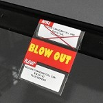 DOUBLE BLOW OUT REUSABLE PROMO TAG-NO ARROW 3