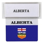 RE-USABLE PROMO FLAG ALBERTA