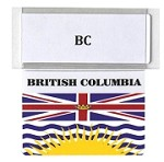 RE-USABLE PROMO FLAG BRITISH COLUMBIA