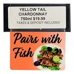 PAIRS WITH FISH RE-USABLE PROMO TAG