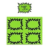 SMALL NEON/LIME GREEN STARBURSTS