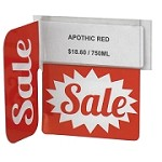 SALE RE-USABLE PROMO TAG WITH RIGHT ANGLED SIGN